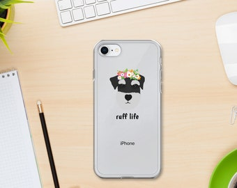 Personalized Schnauzer iPhone Cases, Schnauzer Phone Case, Custom Dog iPhone Case, iPhone 7, 8 and 7, 8 Plus Cases, Schnauzer  iPhone X Case