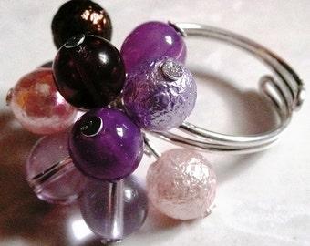 Purple wire ring
