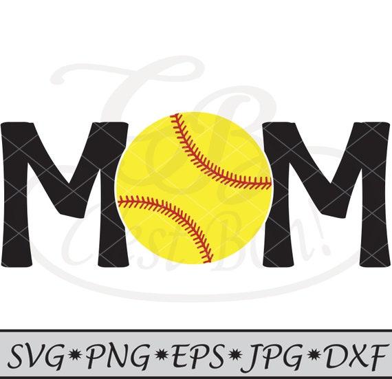 Softball svg, Mom, Cut File, vinyl cutter, DXF, PNG, jpg, Instant Download,  T-Shirt Design, SVG, mom shirt, softball mom, cricut, silhouette