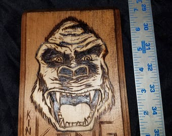 King Kong wood plaque
