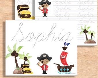 Handwriting Practice DIGITAL | Custom Name Writing Worksheet | 1st Grade Writing Practice | Kindergarten Name Worksheet | Name Tracing