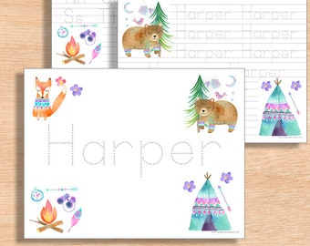 Handwriting Worksheet DIGITAL | Name Writing | Homeschool Printable | Kindergarten Handwriting Practice | Preschool Alphabet Worksheet