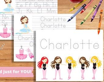 Custom Name Writing Worksheet | Handwriting Worksheet DIGITAL | 1st Grade Writing Practice |  Kindergarten Name Worksheet | Name Tracing