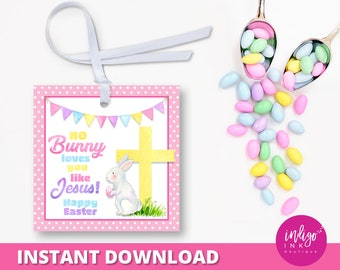 Christian easter tag etsy religious easter favor tag no bunny loves you like jesus party favor tags easter gift tags christian easter tag instant download negle Choice Image