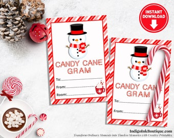 Candy Cane Tags Etsy