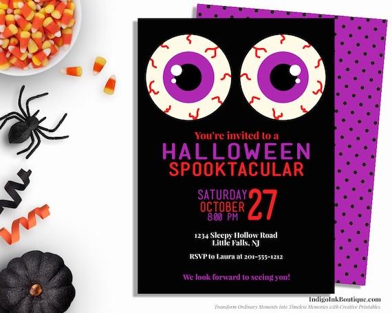 halloween invitation for kids evil eyes kids halloween party