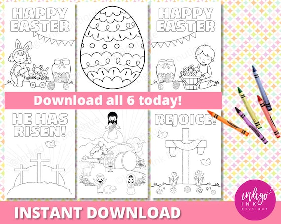 Easter Religious Coloring Sheets Easter Christian Coloring Page For Kids Easter Coloring Kids Printable Kids Coloring Instant Download By Indigo Ink Boutique Catch My Party