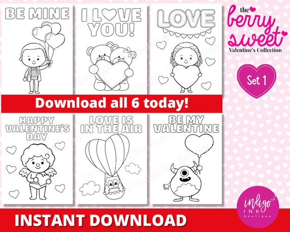 Valentine S Day Coloring Pages For Kids Monster Valentine Coloring