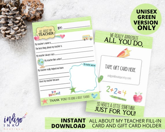 photograph regarding Printable Thank You Cards for Teacher titled Xmas Instructor Present Card Holder Trainer Reward Trainer