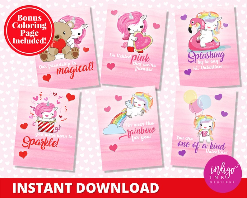picture about Printable Kids Valentines Cards identify Unicorn Valentines Working day Playing cards Youngsters Valentines Printable Young children Valentine Playing cards Unicorn Valentine Card Youngsters Instantaneous Down load