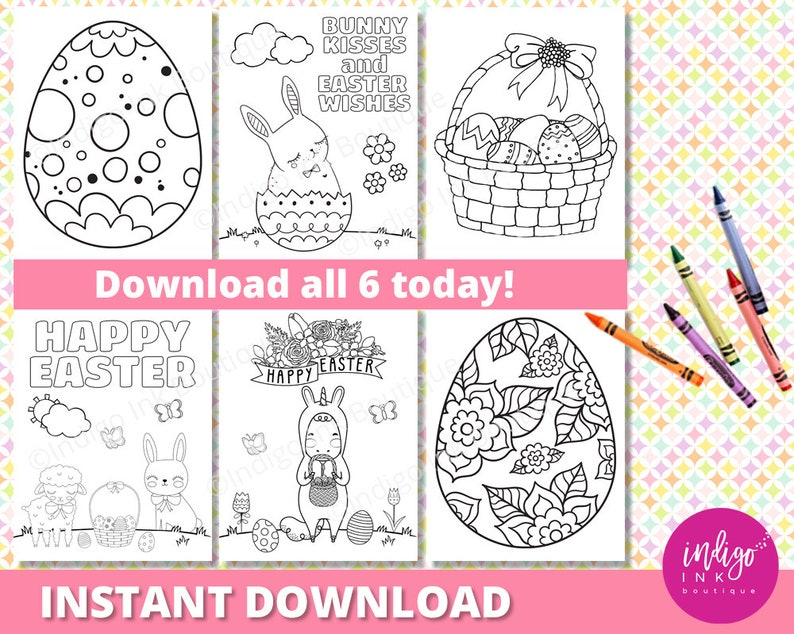 Easter Coloring Sheet for Kids | Happy Easter Coloring Pages | Unicorn  Coloring Printables for Kids | Kids Coloring INSTANT DOWNLOAD