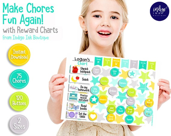 kids daily checklist weekly chore chart chore chart for etsy