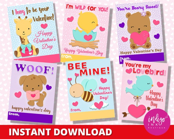 School Valentines Day Cards Children Valentines Printables For