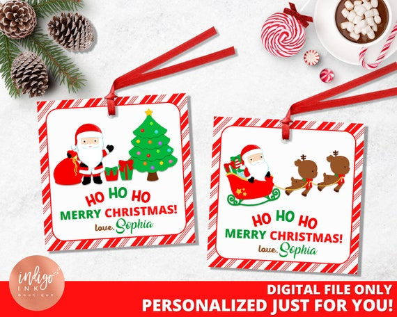 Personalized From Santa Claus Christmas Gift Tags