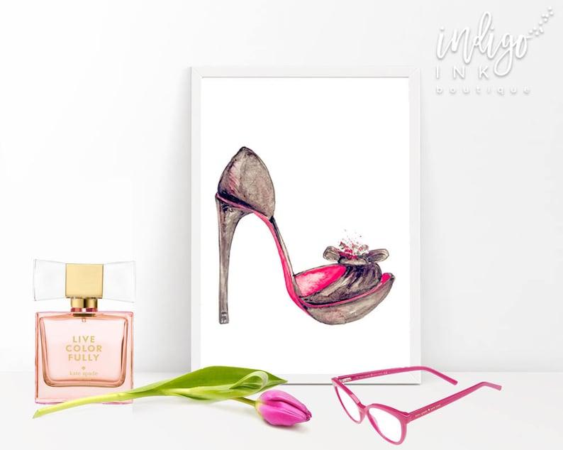 25966fe5ce1 High Heels Wall Art | Closet Print | DIGITAL Artwork | High Heel Print |  Shoes Wall Art | Fashion Illustration | Printable Wall Art