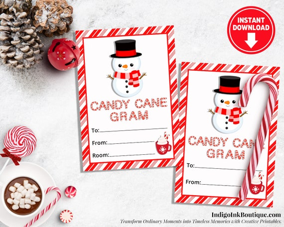 photo about Printable Candy Cane named Sweet Cane Gram Holiday vacation Tags Snowman Prefer Tags