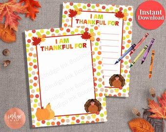 Kids Thanksgiving Printable Pages INSTANT DOWNLOAD | Thanksgiving Game | Teacher Printables | Thankful Printable | Thanksgiving Fun