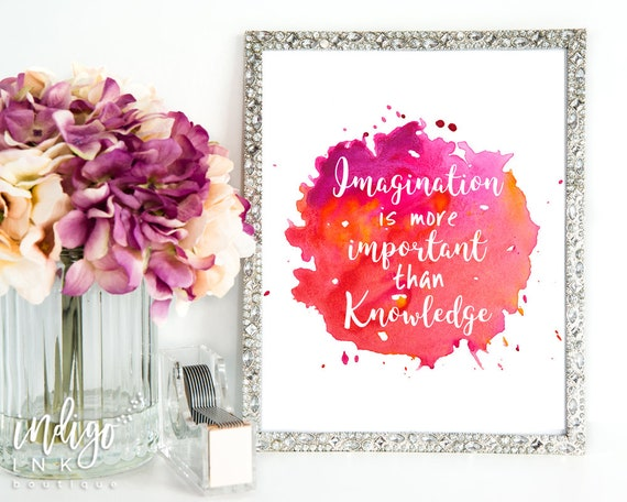 Imagination is more Important than Knowledge   Albert