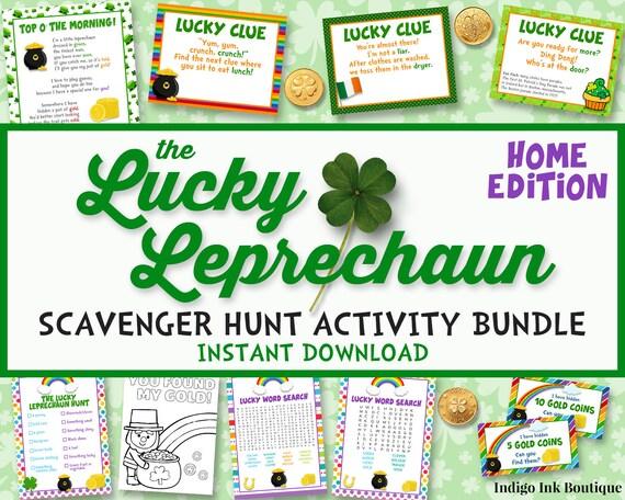 St Patricks Day Scavenger Hunt Activity Bundle for HOME