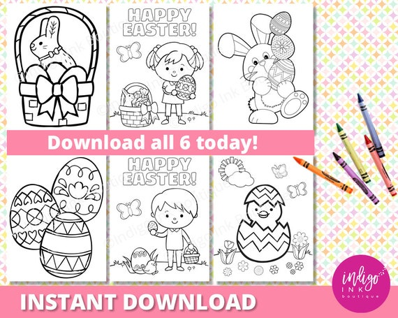 Easter Coloring Page for Kids Kids Coloring Sheets Easter | Etsy