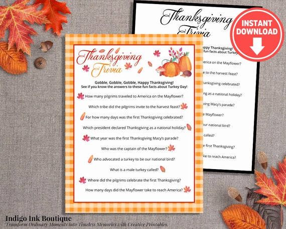 graphic about Autumn Trivia for Seniors Printable known as Thanksgiving Trivia for Grown ups Printable Activity Thanksgiving