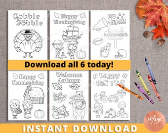 Thanksgiving Coloring Sheets | Kids Printables | Kids Activity Page | Thanksgiving Fun Coloring Pages | Teacher Printable INSTANT DOWNLOAD