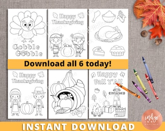 Thanksgiving Coloring Pages | Printables for Kids | Thanksgiving Fun | Kids Coloring Book | Printable Coloring Sheets INSTANT DOWNLOAD