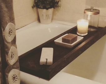 bathtub tray bathtub wooden tray bathtub tray holder bathroom decor tray - Bathroom Tray