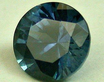 VINTAGE Dark Blue SAPPHIRE Faceted Rock Creek Montana GEM round 5 mm src23