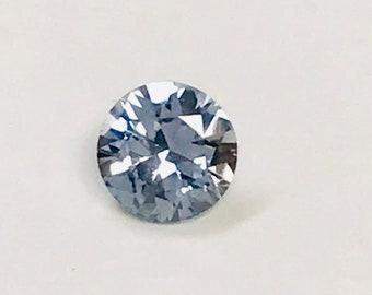 VINTAGE Blue SAPPHIRE Faceted Rock Creek Montana GEMSTONE round 5.5mm 0.75cts src32
