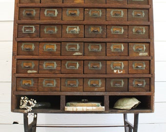 Antique Chinese Apothecary Cabi With 47 Divided Drawers Calligraphy 19th Century 95 X 55 169cm H