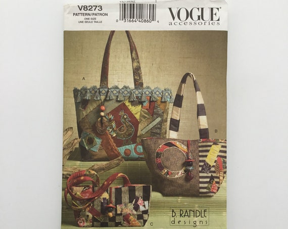 Vogue V8273 (2006) Quilted Handbags and Tote - Uncut Sewing Pattern