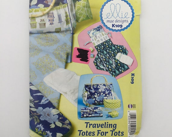 Ellie Mae Designs K109 (2012) Traveling Totes for Tots - Uncut Sewing Pattern