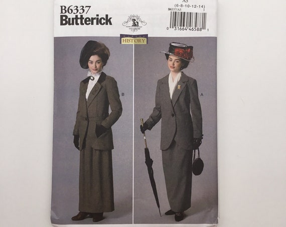 Butterick 6337 (2016) Nancy Farris-Thee Making History Jacket and Skirt - Multiple Sizes Available - Uncut Sewing Pattern