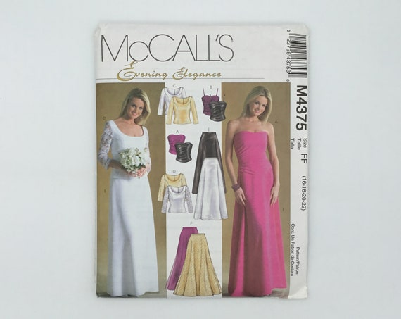 McCall's 4375 (2004) Special Occasion Tops and Skirts - Size 16-22 Bust 38-44 - Uncut Sewing Pattern