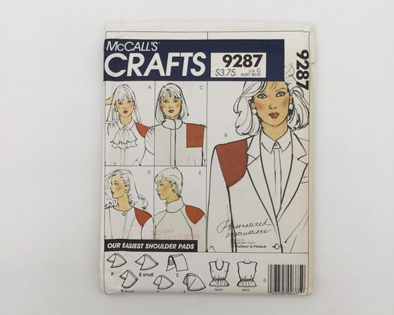 McCall's 9287 (1984) Palmer Pletsch Camisole and Shoulder Pads - Vintage Uncut Sewing Pattern