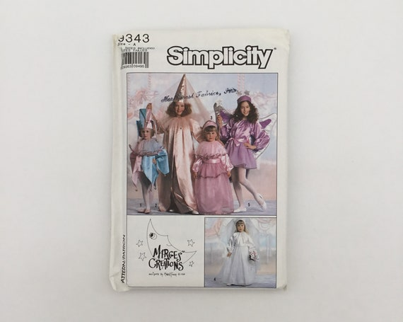 Simplicity 9343 (1989) Jester, Princess, Bride, and Fairy Costumes - Size S-XL - Vintage Uncut Sewing Pattern