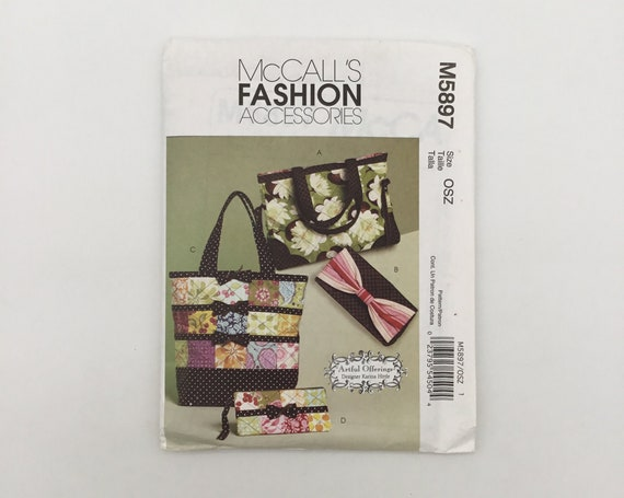 McCall's 5897 (2009) Totes and Bags - Uncut Sewing Pattern