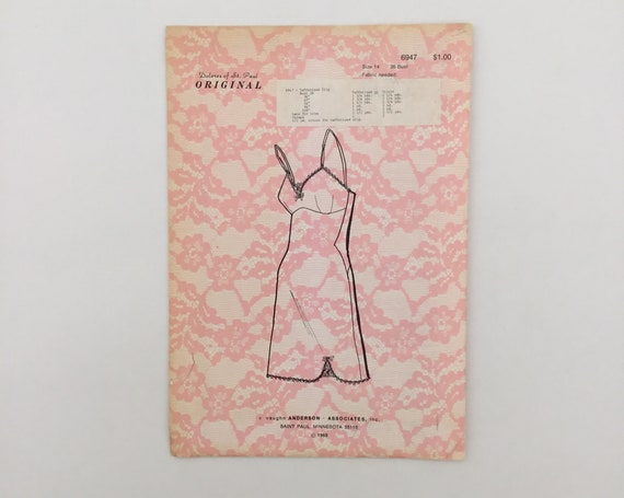 Dolores of St. Paul 6947 (1969) Full Slip - Size 14 Bust 36 - Vintage Uncut Sewing Pattern