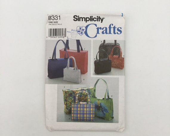 Simplicity 8331 (1998) Totes and Handbags - Vintage Uncut Sewing Pattern