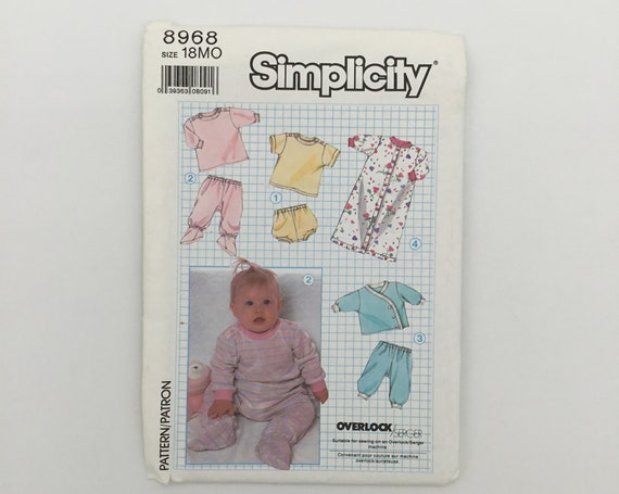 Simplicity 8968 (1989) Knit Wardrobe - Multiple Sizes Available - Vintage Uncut Sewing Pattern