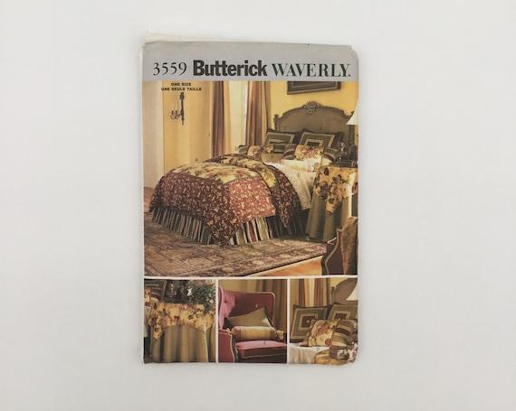 Butterick 3559 (2002) Waverly Bedroom Decor  - Uncut Sewing Pattern