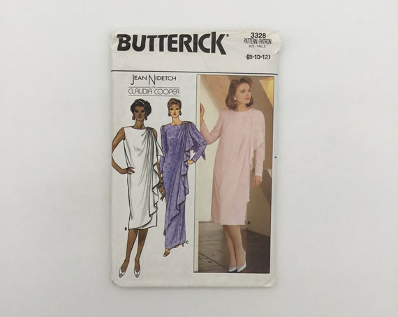 Butterick 3328 (1985) Dress with Sleeve and Length Variations - Size 8-12 Bust 31.5-34 - Vintage Uncut Sewing Pattern