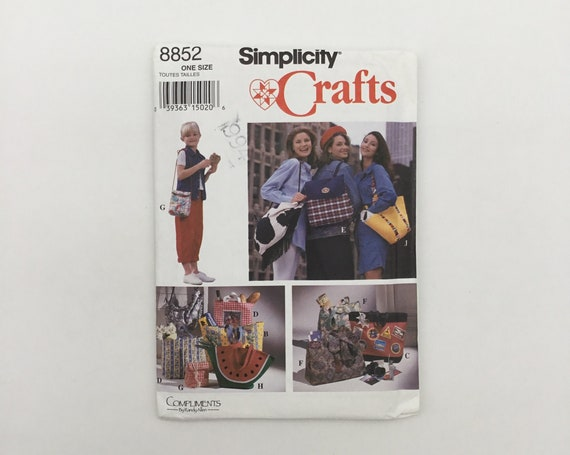 McCall's 8852 (1994) Handbags, Backpack, and Lunch Bag - Vintage Uncut Sewing Pattern