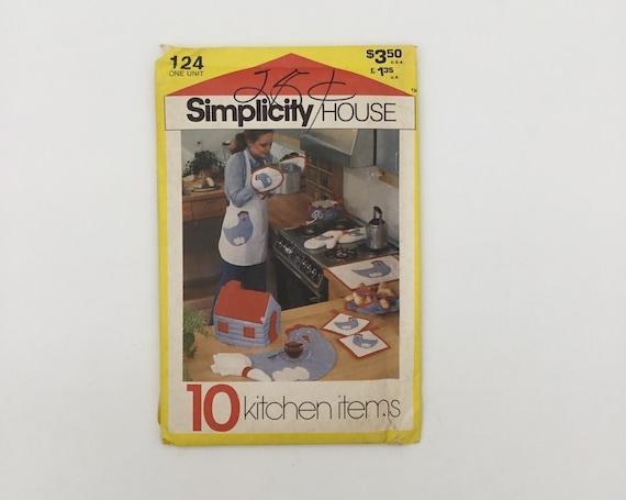 Simplicity 124 (1981) Kitchen Accessories - Vintage Uncut Sewing Pattern