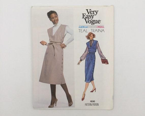 Vogue 1830 Teal Traina Jumper - Size 14 Bust 36 - Vintage Uncut Sewing Pattern