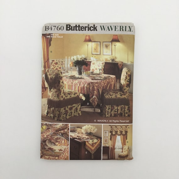 Butterick 4760 (2006) Waverly Dining Room Decor - Uncut Sewing Pattern