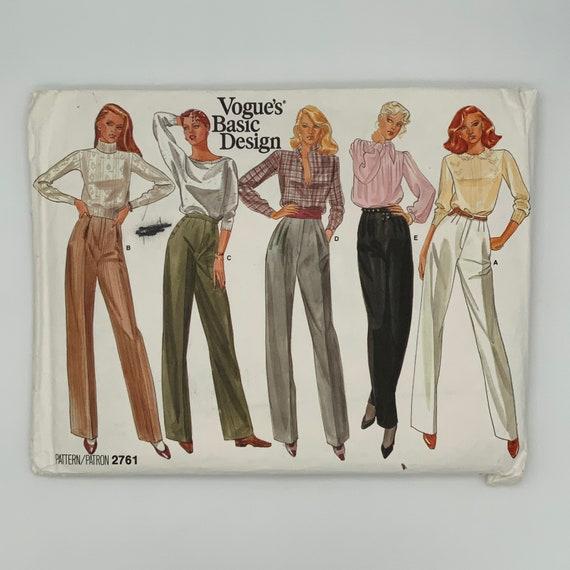 Vogue 2761 (1987) Pants - Size 20 - Vintage Uncut Sewing Pattern