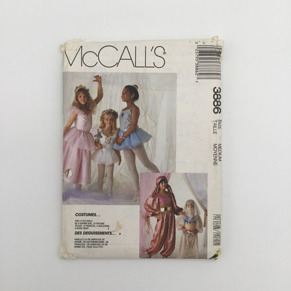 McCall's 3886 (1988) Children's Costumes - Size Medium (6-8) - Vintage Uncut Sewing Pattern