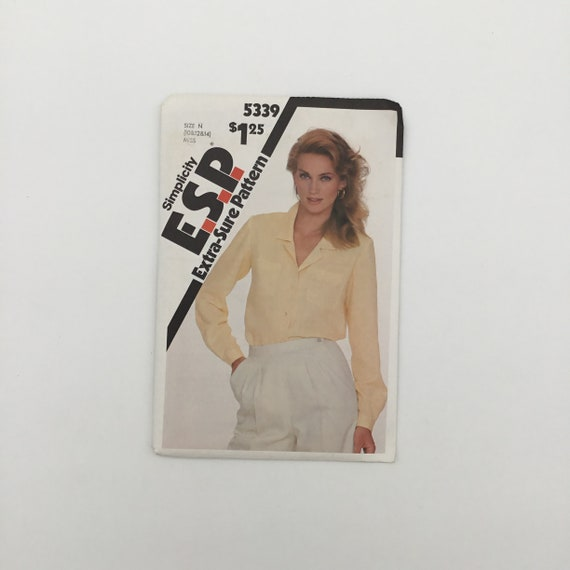 Simplicity 5339 (1981) Blouse - Multiple Sizes Available - Vintage Uncut Sewing Pattern